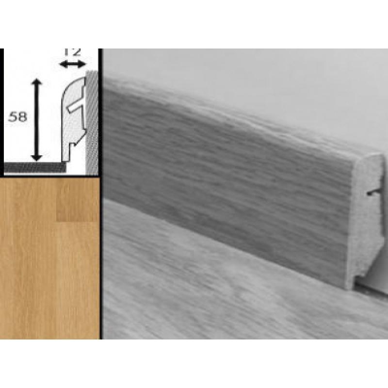 плинтус мдф квик степ 58x12x2400 мм qsskr 03106 доска натурального дуба лакированная