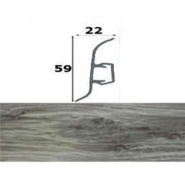 Напольный плинтус Cezar ПВХ с кабель-каналом 60х22 мм 209