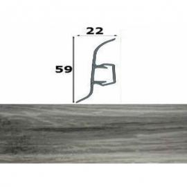 Напольный плинтус Cezar ПВХ с кабель-каналом 60х22 мм 210