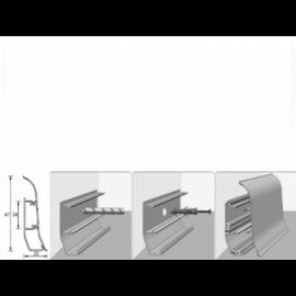 Напольный плинтус Идеал Элит (пластиковый с кабель-каналом) 001 Белый 67х22мм