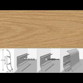 Напольный плинтус Идеал Элит (пластиковый с кабель-каналом) 202 Дуб арктик 67х22мм
