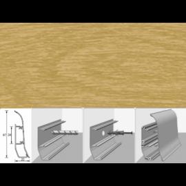 Напольный плинтус Идеал Элит (пластиковый с кабель-каналом) 204 Дуб имперский 67х22мм