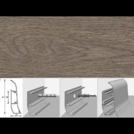 Напольный плинтус Идеал Элит (пластиковый с кабель-каналом) 205 Дуб капучино 67х22мм