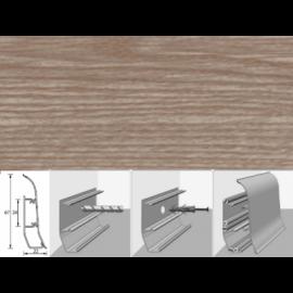 Напольный плинтус Идеал Элит (пластиковый с кабель-каналом) 207 Дуб кофейный 67х22мм