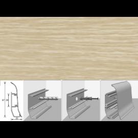 Напольный плинтус Идеал Элит (пластиковый с кабель-каналом) 213 Дуб северный 67х22мм
