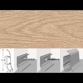 Напольный плинтус Идеал Элит (пластиковый с кабель-каналом) 216 Дуб сафари 67х22мм