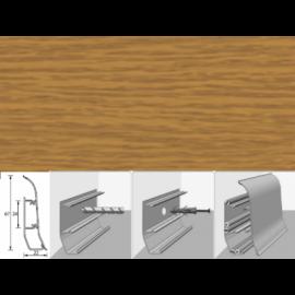 Напольный плинтус Идеал Элит (пластиковый с кабель-каналом) 217 Дуб темный 67х22мм