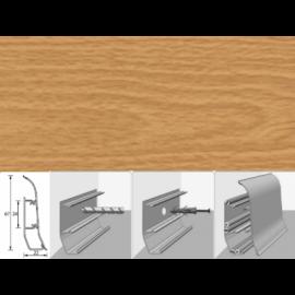 Напольный плинтус Идеал Элит (пластиковый с кабель-каналом) 231 Бук 67х22мм