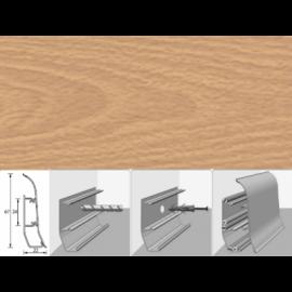 Напольный плинтус Идеал Элит (пластиковый с кабель-каналом) 233 Бук светлый 67х22мм