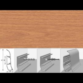 Напольный плинтус Идеал Элит (пластиковый с кабель-каналом) 241 Вишня 67х22мм