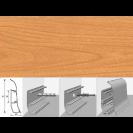Напольный плинтус Идеал Элит (пластиковый с кабель-каналом) 242 Вишня дикая 67х22мм