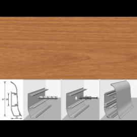 Напольный плинтус Идеал Элит (пластиковый с кабель-каналом) 244 Вишня темная 67х22мм