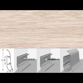 Напольный плинтус Идеал Элит (пластиковый с кабель-каналом) 262 Клен вермонт 67х22мм