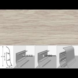 Напольный плинтус Идеал Элит (пластиковый с кабель-каналом) 263 Клен северный 67х22мм