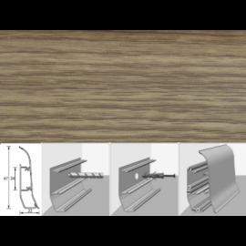 Напольный плинтус Идеал Элит (пластиковый с кабель-каналом) 272 Сосна золотистая 67х22мм