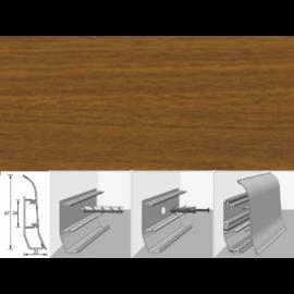 Напольный плинтус Идеал Элит (пластиковый с кабель-каналом) 291 Орех 67х22мм
