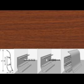 Напольный плинтус Идеал Элит (пластиковый с кабель-каналом) 293 Орех темный 67х22мм