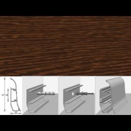 Напольный плинтус Идеал Элит (пластиковый с кабель-каналом) 301 Венге 67х22мм