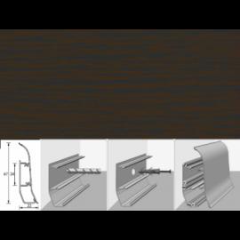Напольный плинтус Идеал Элит (пластиковый с кабель-каналом) 302 Венге черный 67х22мм