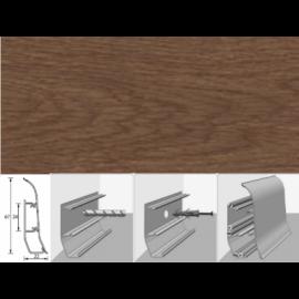 Напольный плинтус Идеал Элит (пластиковый с кабель-каналом) 321 Падук 67х22мм