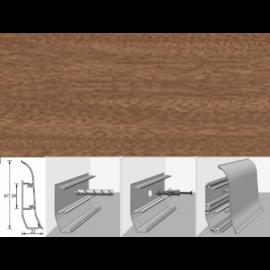 Напольный плинтус Идеал Элит (пластиковый с кабель-каналом) 326 Сантал 67х22мм