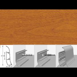 Напольный плинтус Идеал Элит (пластиковый с кабель-каналом) 331 Кемпас 67х22мм