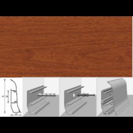 Напольный плинтус Идеал Элит (пластиковый с кабель-каналом) 341 Ольха 67х22мм