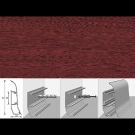 Напольный плинтус Идеал Элит (пластиковый с кабель-каналом) 346 Махагон 67х22мм