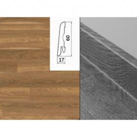 Плинтус для пола МДФ Egger L137 Орех мансония 60x17x2400 мм