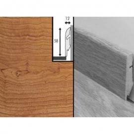 Плинтус для пола МДФ Квик Степ 58x12x2400 мм QSSKR 00865 Доска темной вишни лакированная