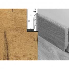Плинтус для пола МДФ Квик Степ 58x12x2400 мм QSSKR 00995 Доска дуба Vintage лакированная натуральная