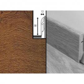 Плинтус для пола МДФ Квик Степ 58x12x2400 мм QSSKR 01001 Доска темного дуба Vintage лакированная