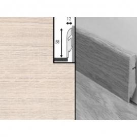 Плинтус для пола МДФ Квик Степ 58x12x2400 мм QSSKR 01235 Сосна белая затертая