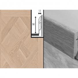 Плинтус для пола МДФ Квик Степ 58x12x2400 мм QSSKR 01248 Версаль белый промасленный