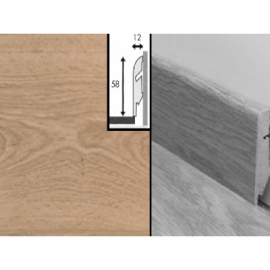 Плинтус для пола МДФ Квик Степ 58x12x2400 мм QSSKR 01303 Доска дубовая светлая потертая