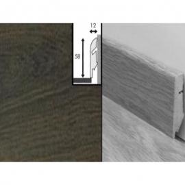 Плинтус для пола МДФ Квик Степ 58x12x2400 мм QSSKR 01305 Доска дубовая темно-серая лакированная