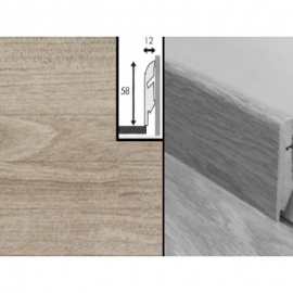 Плинтус для пола МДФ Квик Степ 58x12x2400 мм QSSKR 01371 Тик затертый 5-ти полосный