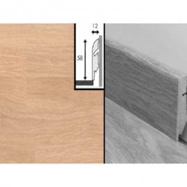 Плинтус для пола МДФ Квик Степ 58x12x2400 мм QSSKR 01372 Дуб французский белый лакированный 4-х полосный