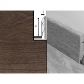 Плинтус для пола МДФ Квик Степ 58x12x2400 мм QSSKR 01374 Дуб французский серый лакированный 4-х полосный