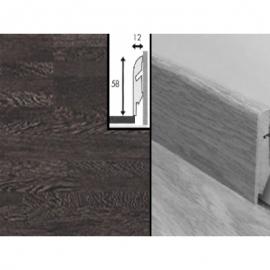 Плинтус для пола МДФ Квик Степ 58x12x2400 мм QSSKR 01376 Венге 10-ти полосный