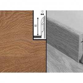 Плинтус для пола МДФ Квик Степ 58x12x2400 мм QSSKR 01378 доска дуба натурального лакированного