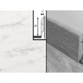 Плинтус для пола МДФ Квик Степ 58x12x2400 мм QSSKR 01400 Мраморная плитка
