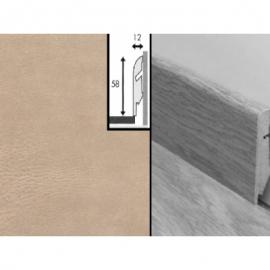 Плинтус для пола МДФ Квик Степ 58x12x2400 мм QSSKR 01401 Плитка кожаная светлая