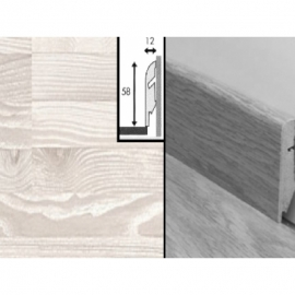 Плинтус для пола МДФ Квик Степ 58x12x2400 мм QSSKR 01480 Ясень белый 7-ми полосный