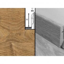 Плинтус для пола МДФ Квик Степ 58x12x2400 мм QSSKR 01493 Доска дуба белого натурального