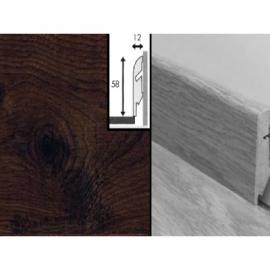 Плинтус для пола МДФ Квик Степ 58x12x2400 мм QSSKR 01496 Доска дуба белого затемненная