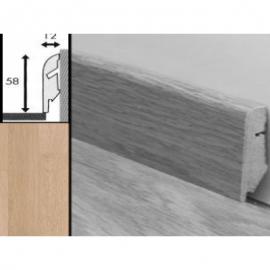 Плинтус для пола МДФ Квик Степ 58x12x2400 мм QSSKR 01538 Доска белого дуба лакированная