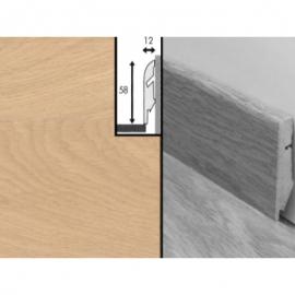 Плинтус для пола МДФ Квик Степ 58x12x2400 мм QSSKR 01538 Дуб белый промасленный