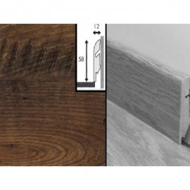 Плинтус для пола МДФ Квик Степ 58x12x2400 мм QSSKR 01542 Реставрированный тёмный каштан
