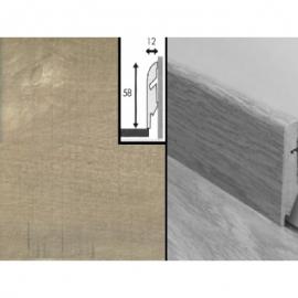 Плинтус для пола МДФ Квик Степ 58x12x2400 мм QSSKR 01547 Пилёный светлый дуб